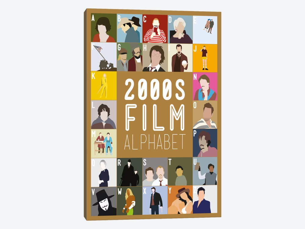 2000s Film Alphabet by Stephen Wildish 1-piece Canvas Artwork
