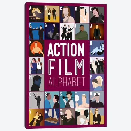 Action Film Alphabet Canvas Print #WLD85} by Stephen Wildish Canvas Artwork