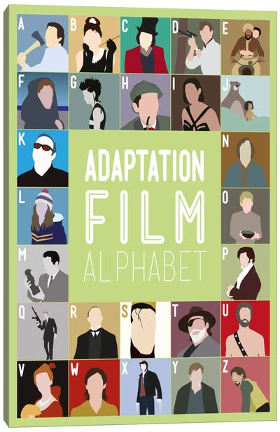 Adaptation Film Alphabet Canvas Art Print