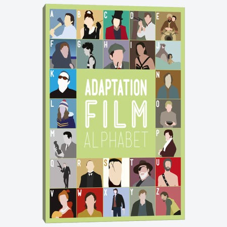 Adaptation Film Alphabet Canvas Print #WLD86} by Stephen Wildish Canvas Art