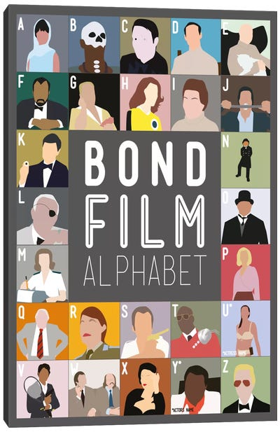 Bond Film Alphabet Canvas Art Print