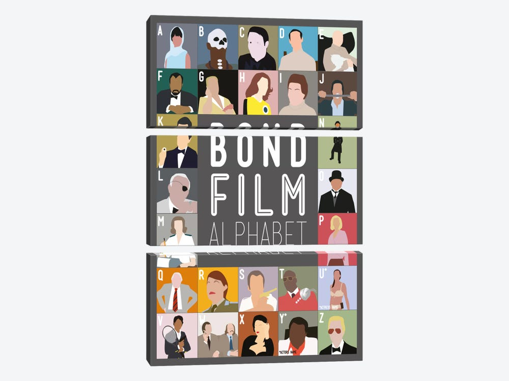 bond film alphabet canvas art print by stephen wildish icanvas. Black Bedroom Furniture Sets. Home Design Ideas