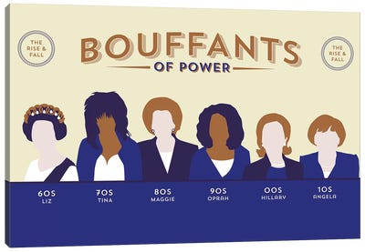 Bouffants Of Power Canvas Art Print