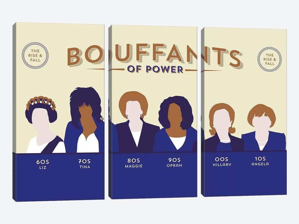 Bouffants Of Power by Stephen Wildish 3-piece Canvas Artwork