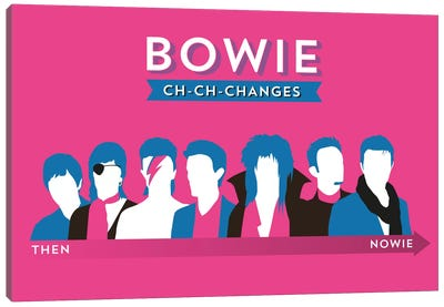 Bowie Ch-Ch-Changes Canvas Art Print