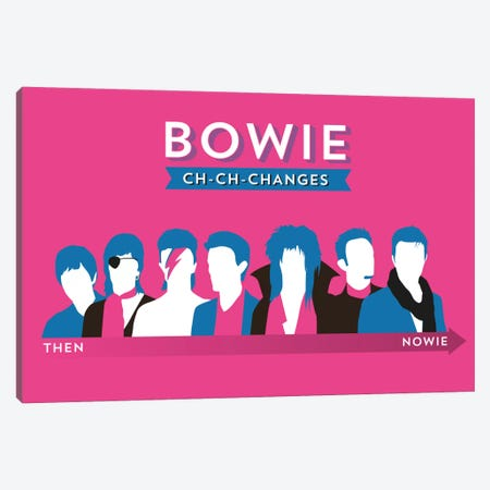 Bowie Ch-Ch-Changes Canvas Print #WLD89} by Stephen Wildish Canvas Print