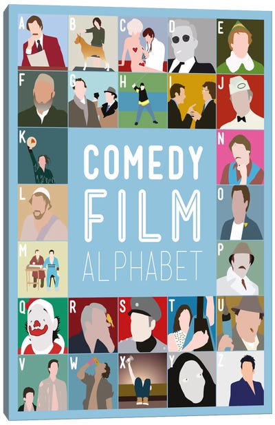 Comedy Film Alphabet Canvas Art Print