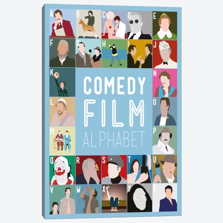 Comedy Film Alphabet Canvas Print #WLD90} by Stephen Wildish Canvas Artwork