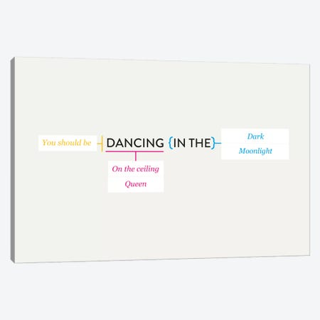 Dancing Canvas Print #WLD91} by Stephen Wildish Canvas Artwork