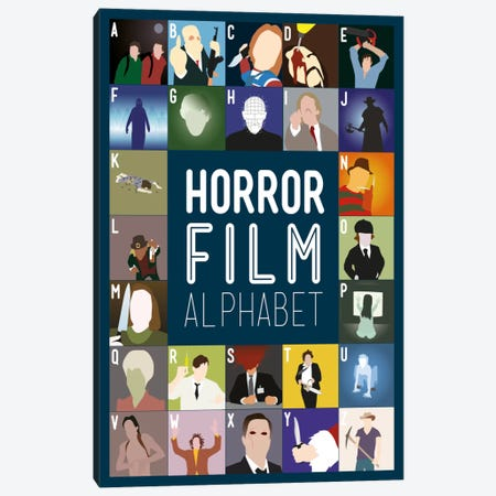 Horror Film Alphabet Canvas Print #WLD93} by Stephen Wildish Canvas Artwork