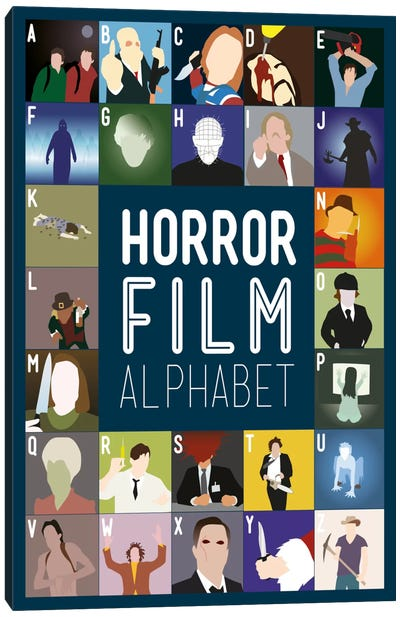 Horror Film Alphabet Canvas Art Print