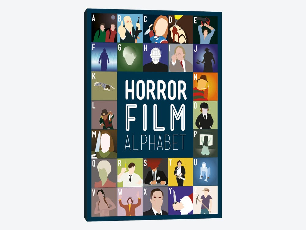 Horror Film Alphabet 1-piece Canvas Wall Art