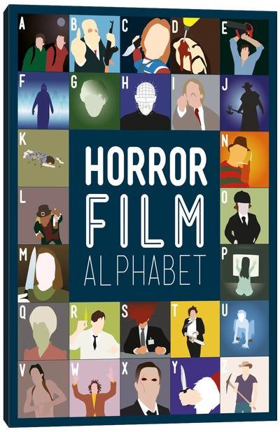 Horror Film Alphabet Canvas Art Print