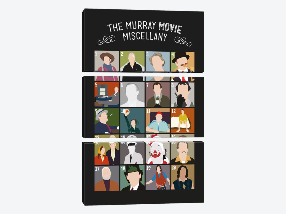 Murray Movies by Stephen Wildish 3-piece Canvas Art Print