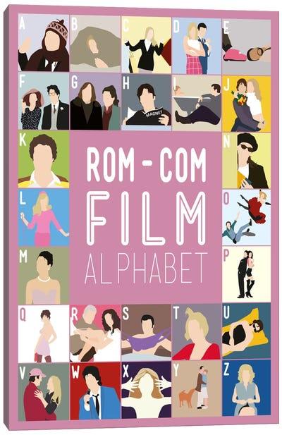 Rom-Com Film Alphabet Canvas Art Print