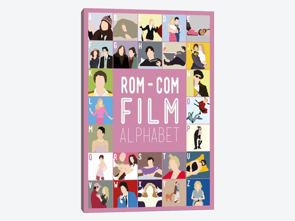 Rom-Com Film Alphabet by Stephen Wildish 1-piece Art Print