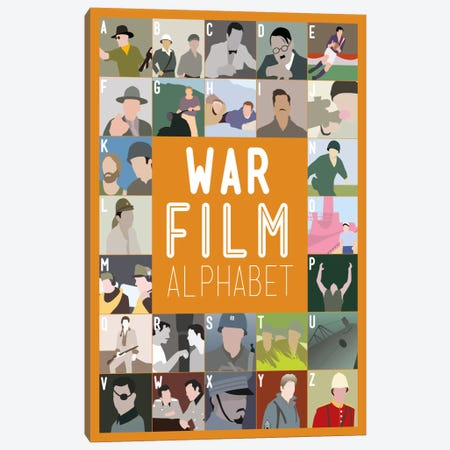 War Film Alphabet Canvas Print #WLD99} by Stephen Wildish Canvas Artwork