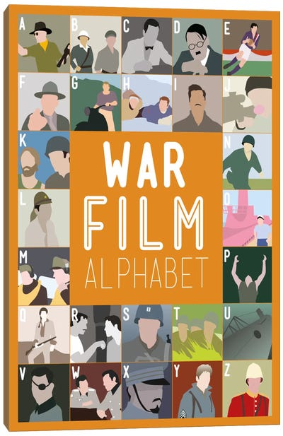 War Film Alphabet Canvas Art Print