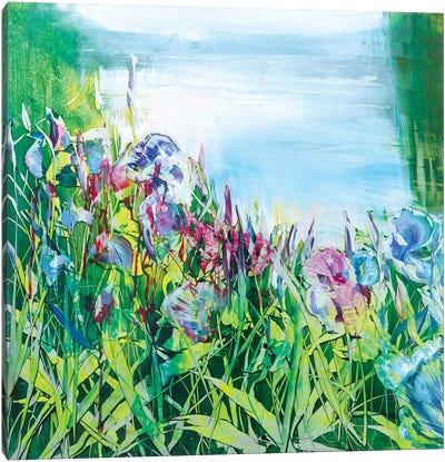 Iris on the Pond Canvas Art Print