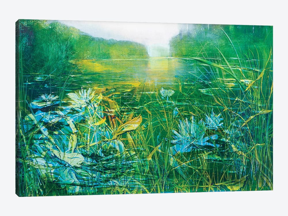 Lilly on the Pond by Jen Williams 1-piece Canvas Wall Art