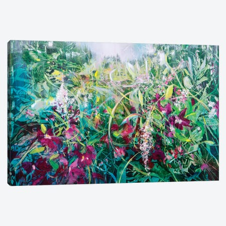 Wild Bouganville Canvas Print #WLM26} by Jen Williams Canvas Art Print