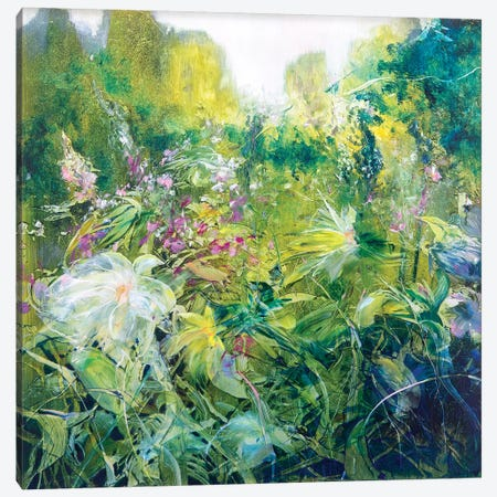 Glistening Gardens Canvas Print #WLM8} by Jen Williams Canvas Art