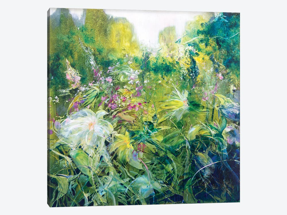 Glistening Gardens by Jen Williams 1-piece Canvas Wall Art