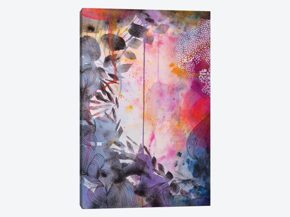 The Garden At Dusk by Helen Wells 1-piece Canvas Art Print