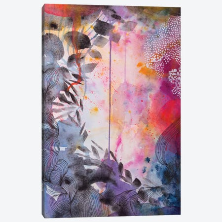 The Garden At Dusk Canvas Print #WLS27} by Helen Wells Canvas Art Print