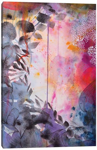 The Garden At Dusk Canvas Art Print