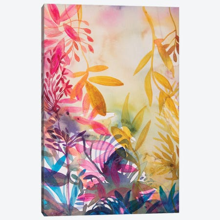 The Garden Of Happiness Canvas Print #WLS28} by Helen Wells Canvas Art