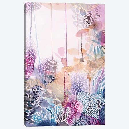 The Watercolour Garden Canvas Print #WLS30} by Helen Wells Canvas Art Print
