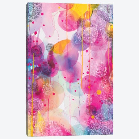Our Colourful Dance Canvas Print #WLS37} by Helen Wells Canvas Wall Art