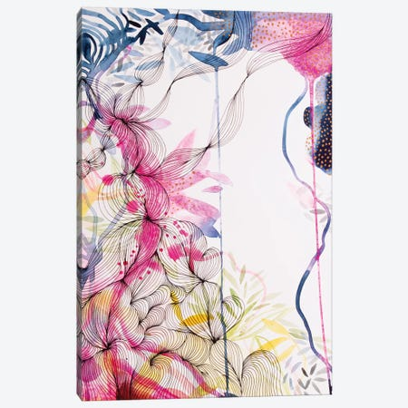 Our Colourful Garden Canvas Print #WLS38} by Helen Wells Art Print