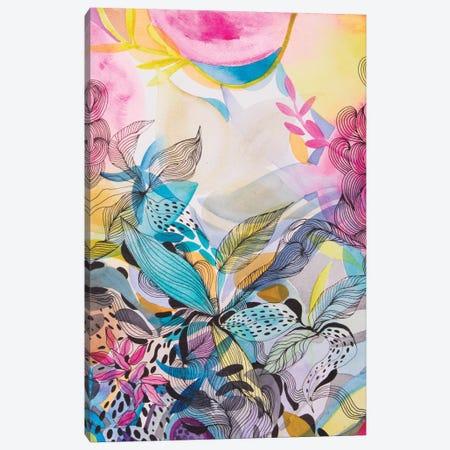 The Sea Garden Canvas Print #WLS40} by Helen Wells Canvas Artwork