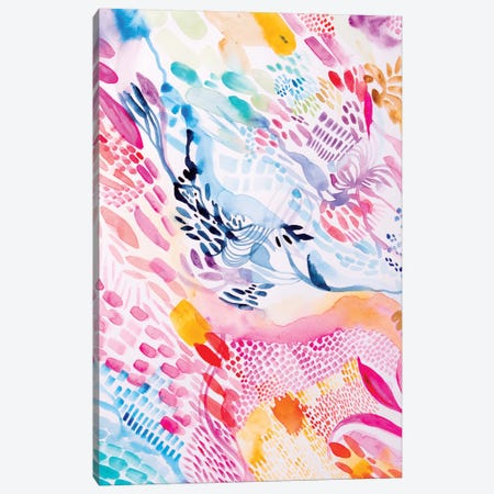 Colourful Fun Canvas Print #WLS4} by Helen Wells Canvas Artwork