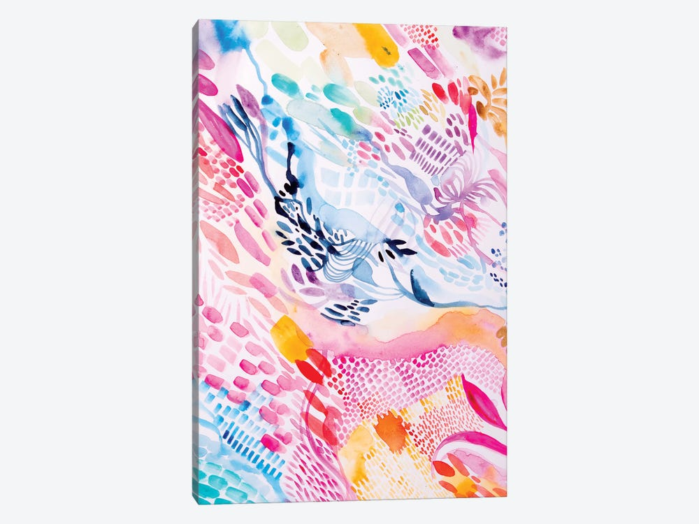 Colourful Fun by Helen Wells 1-piece Canvas Artwork