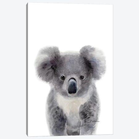 Baby Koala Canvas Print #WLU103} by Watercolor Luv Art Print