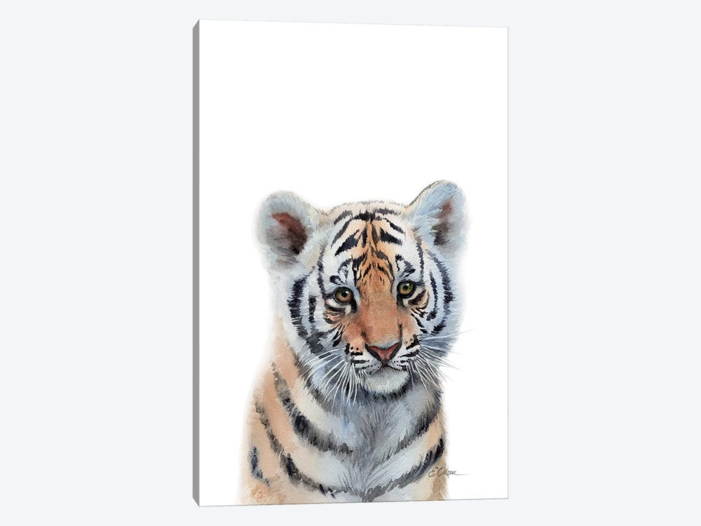 Baby Tiger by Watercolor Luv 1-piece Art Print