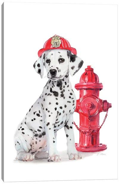 Fire Station Pal Canvas Art Print