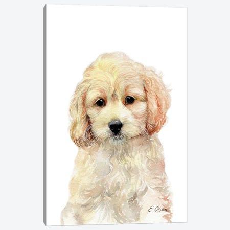 Cockapoo Puppy Canvas Print #WLU28} by Watercolor Luv Canvas Artwork