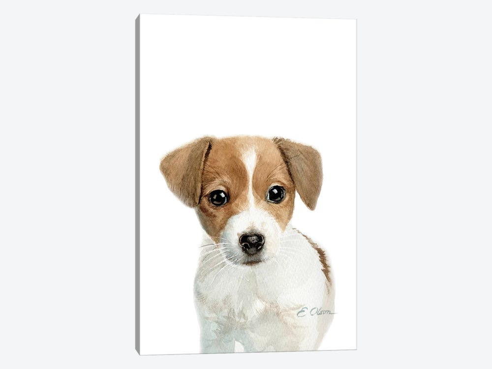 Jack Russell Terrier Puppy Canvas Wall Art By Watercolor Luv Icanvas