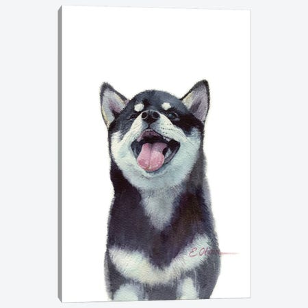 Malamute Puppy Canvas Print #WLU46} by Watercolor Luv Canvas Print