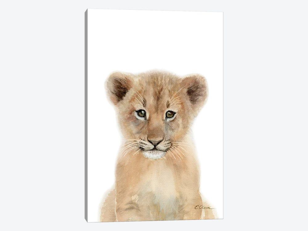 Baby Lion Cub by Watercolor Luv 1-piece Canvas Art