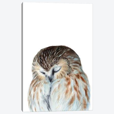 Woodland Sleeping Owl Canvas Print #WLU95} by Watercolor Luv Canvas Art