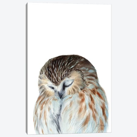 Woodland Sleeping Owl Canvas Print #WLU95} by Watercolor Luv Canvas Art