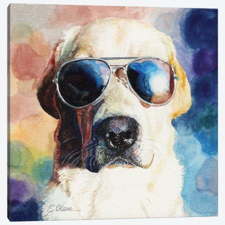 Bad Cop Canvas Print #WLU9} by Watercolor Luv Canvas Art Print