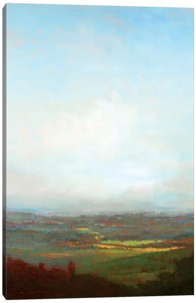 Green Valley Below Canvas Art Print