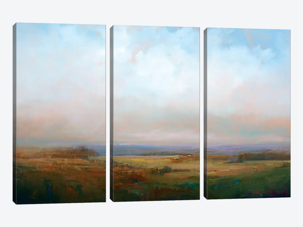 Into The Foothills by William McCarthy 3-piece Canvas Print