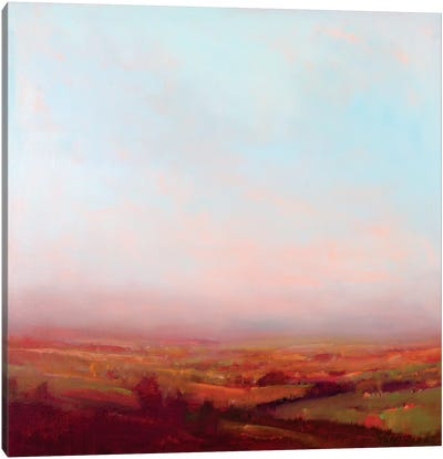 Misty Orange And Red Canvas Art Print
